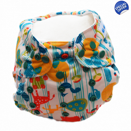 Safari up to 15kgs or 35lbs - Washable Nappy