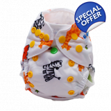 Zoo up to 5kg or 11lbs - Washable Nappy
