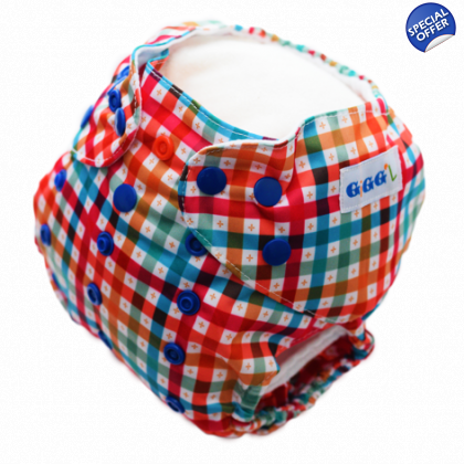 Criss-Cross up to 15kgs or 35lbs - Washable Nappy