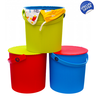 Nappy Laundry Bucket wi..