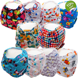 Regular Bundle x 10 - Washable Nappies