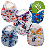 Newborn Bundle x 5 - Washable Nappies