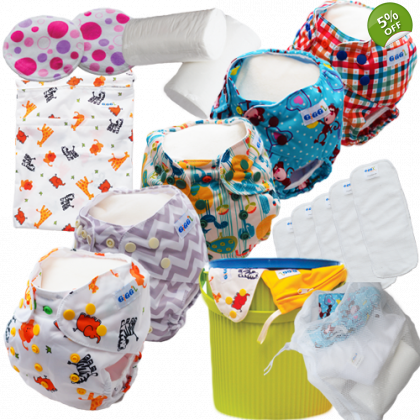 Regular Starter Pack [Option 2] - Washable Nappies