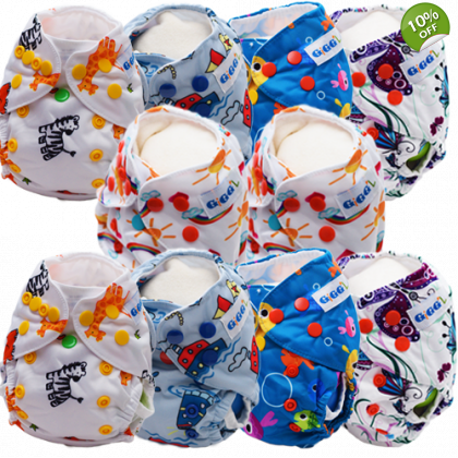 Newborn Bundle x 10 - Washable Nappies