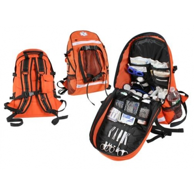 Backback Trauma Medical Bag with Optional Supplies Stocked