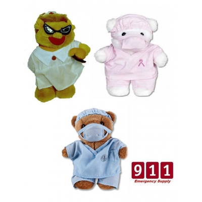Plush Scrub Bears Doctor Gifts Patient Toy Animal Stuffed