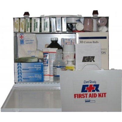 First Aid Kit 75 Person Metal Case