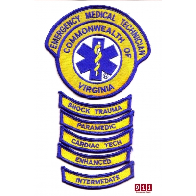 Embroidered Virginia VA Emergency Medical Technician Patch