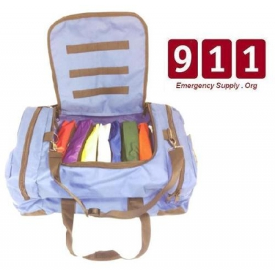 Large First Responder Broselow Inserts Color Coded Trauma Bag