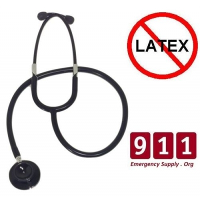 Professional Double Dual Head Stealth Black Stethoscope Tactical