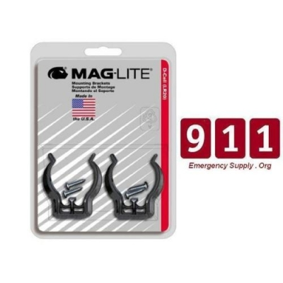 Maglight Lite Mag D Cell Flashlight Wall Mounting Bracket Clamps