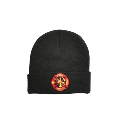 Deluxe Fire Department Embroidered Watch Cap Beanie Hat