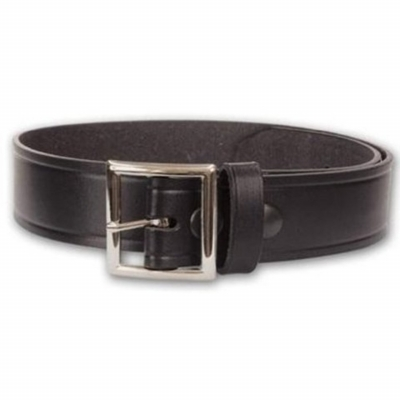 Black Leather Garrison Belt 1 1/4