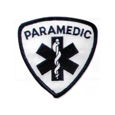 Paramedic Shoulder Patch - Blue on White