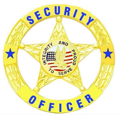 Security Officer Private Star Circle Badge
