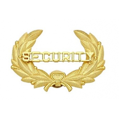 Security Officer Gold Hat Cap Badge