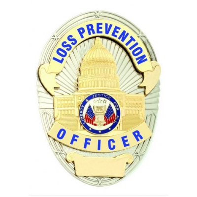 Loss Prevention Officer Shield Oval Badge LAPD Style