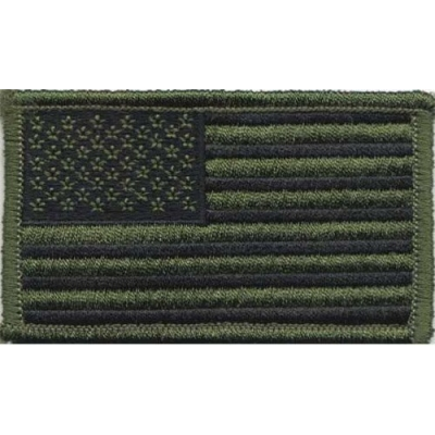 American Flag Embroidered Patch Tactical Olive Drab