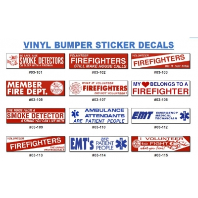 Bumper Sticker Vinyl Print Fire & Rescue