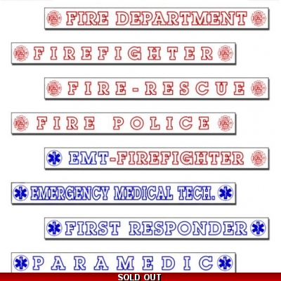 Inside Window Decals Fire & Rescue