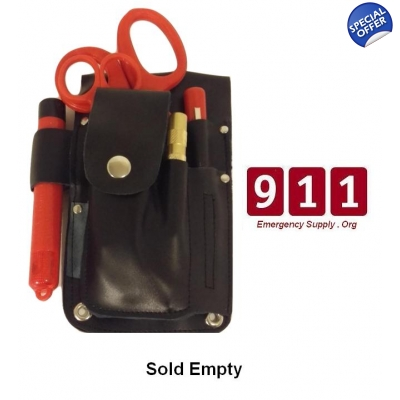 Leather Paddle EMT Medic Holster