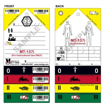 Medical Emergency Triage Tag