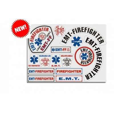All in 1 Reflective Decal Sheet Fire & Rescue