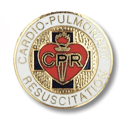 Cardio Pulmonary Resuscitation CPR Collar Pin