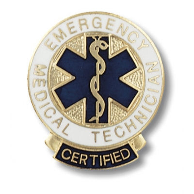 Certified Emergency Medical Technician Collar Pin
