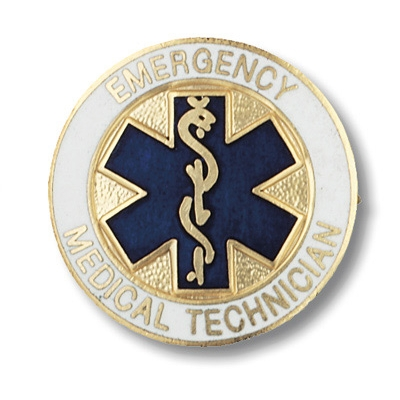 Emergency Medical Technician Collar Pin