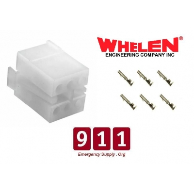 Whelen 6 Pin O Female Siren Plug Strobe Supply Amp With Sockets