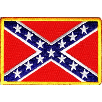 Rebel Confederate Southern Flag Patch