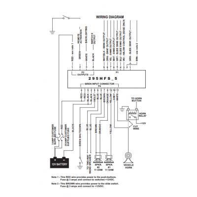 whelen 295hfsa5 4 9 and 12 pin wiring cable kit rh 911emergencysupply org Whelen 9000 Series Wiring Diagram Whelen Control Box Wiring Diagram