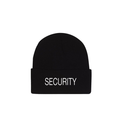 Security Embroidered Watch Cap Beanie Hat