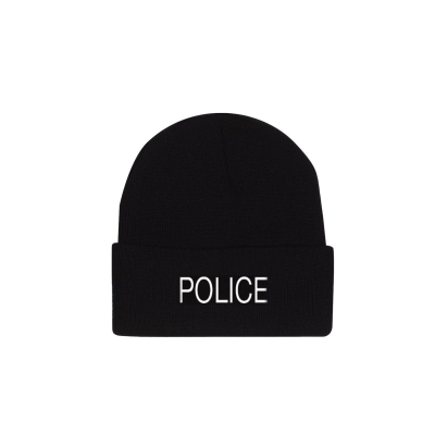 Police Embroidered Watch Cap Beanie Hat