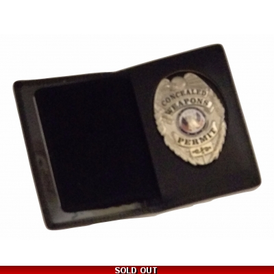 Leather Shield Badge ID Wallet Holder