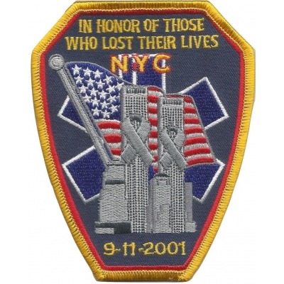 911 NYFD Tribute Shoulder Chest Embroidered Patch