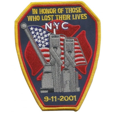 911 NYFD Tribute Shoulder Chest Embroidered Patch Fire