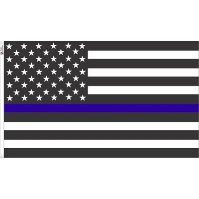 Thin Blue Line USA American Flag
