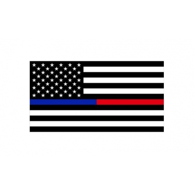 Thin Red Blue Line USA American Flag