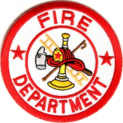 Firefighter Fire Department Circle Patch Maltese