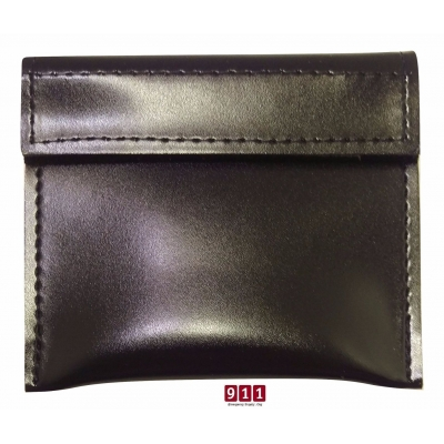 Enduro Leather Look Glove Case Black Velcro Closure