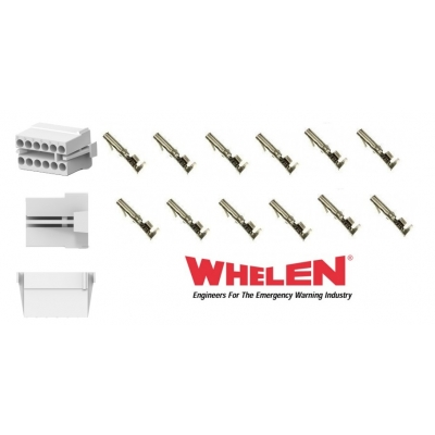 Whelen 12 Pin O Liberty Bar Connector with Sockets