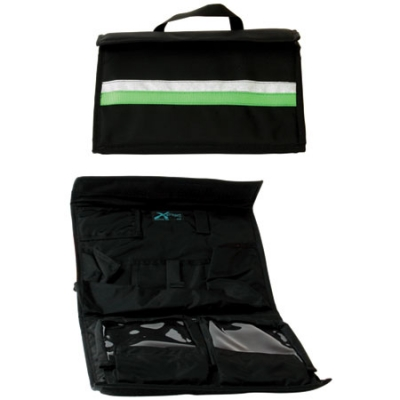 Intubation Case Black with Green Stripe