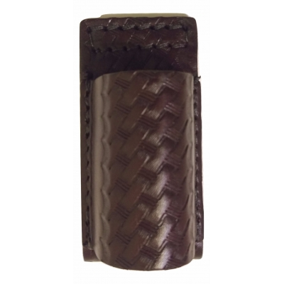 Leather Streamlight Stinger Holder Basket Weave Sheriff Brown