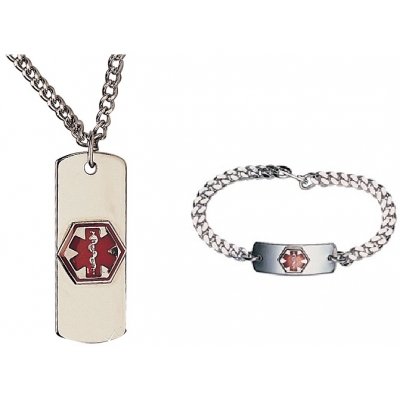 Medical ID Alert Necklace or Bracelet