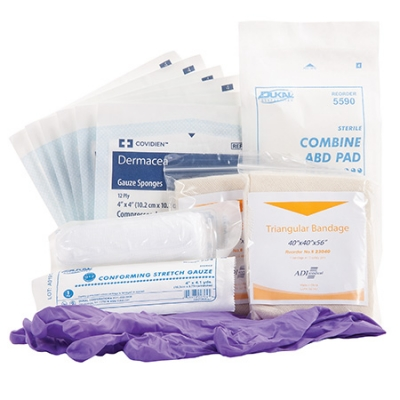Disaster MCI Patient Self Care Kit Bagged Throw Bag