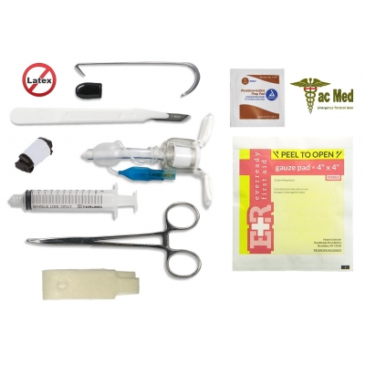 Tactical Field Emergency Cricothyrotomy Cric Kit