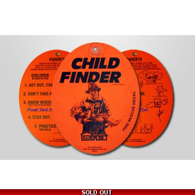 Child Finder Fire Department Window Marker