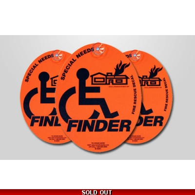 Special Needs Finder Fire Department Window Marker